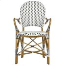 Hooper Indoor-outdoor Stacking Armchair - Black&white Product Image