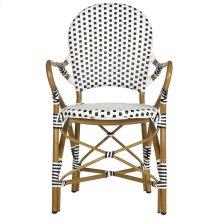 Hooper Indoor-outdoor Stacking Armchair - Black&white