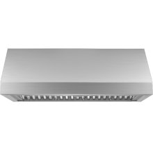 """Heritage 48"""" Pro Wall Hood, 12"""" High, Silver Stainless Steel"""