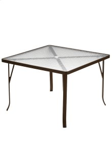 "Acrylic 42"" Square Dining Umbrella Table (ADA Compliant)"