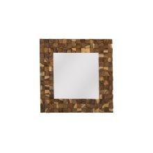 Blocks Mirror, Chamcha Wood, Natural