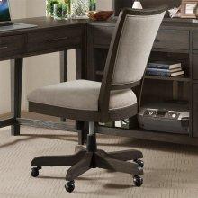 Vogue - Upholstered Desk Chair - Umber Finish