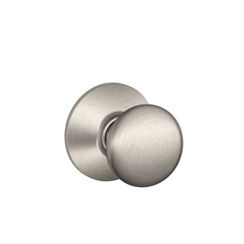 Plymouth Knob Hall & Closet Lock - Satin Nickel