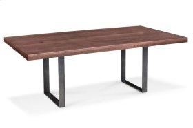 """Ironwood Trestle Table, Ironwood Trestle Table, 38""""x84"""", Solid Top, Black Base"""