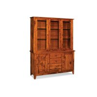 "Shenandoah Closed Hutch Top, 60 1/4"", Antique Glass Product Image"