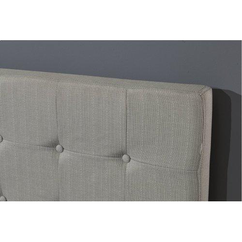 Duggan Upholstered Bed - Light Linen Gray