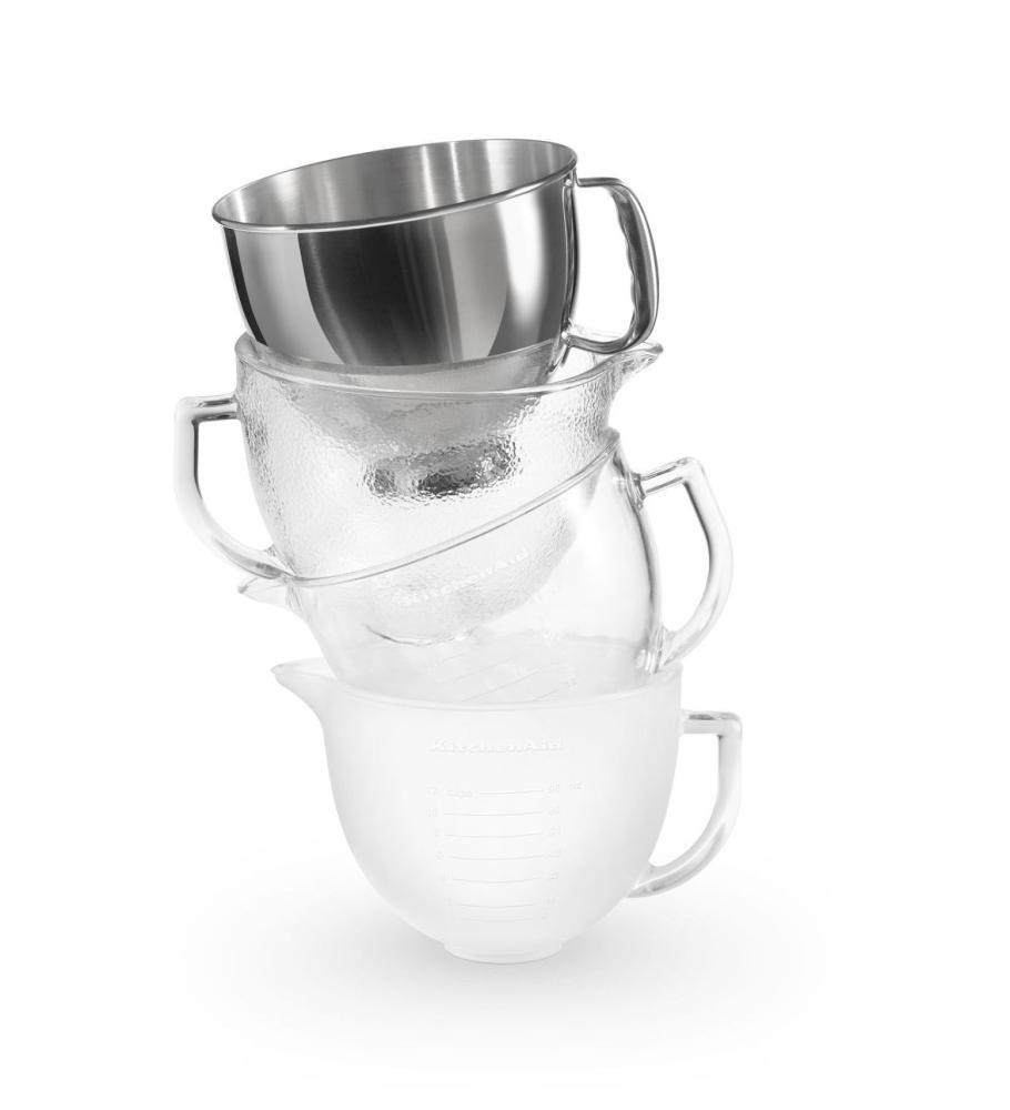 Perfect KITCHENAID 5 Qt. Tilt Head Frosted Glass Bowl With Measurement Markings U0026  Lid