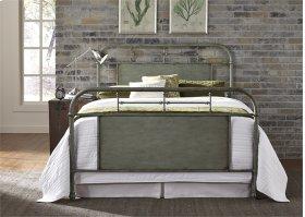 Queen Metal Bed - Green