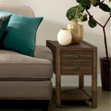 Perspectives - Chairside Table - Brushed Acacia Finish