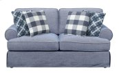 Emerald Home Mt Retreat Loveseat W/4 Pillows Pool Blue U6001-01-08
