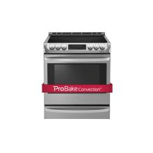 6.3 Cu. Ft. Electric Slide In Range With Probake Convection and Easyclean®