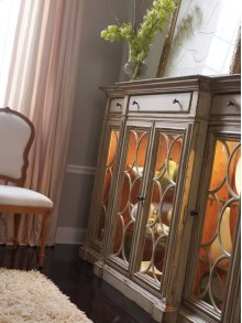 Bahama Sideboard/Curio with Glass Doors