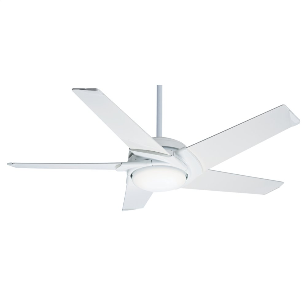Stealth DC with LED Light 54 inch Ceiling Fan  SNOW WHITE