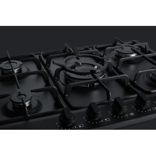b4c56ea25 5-burner Gas Cooktop Made In Italy In Black Matte Finish With Sealed  Burners