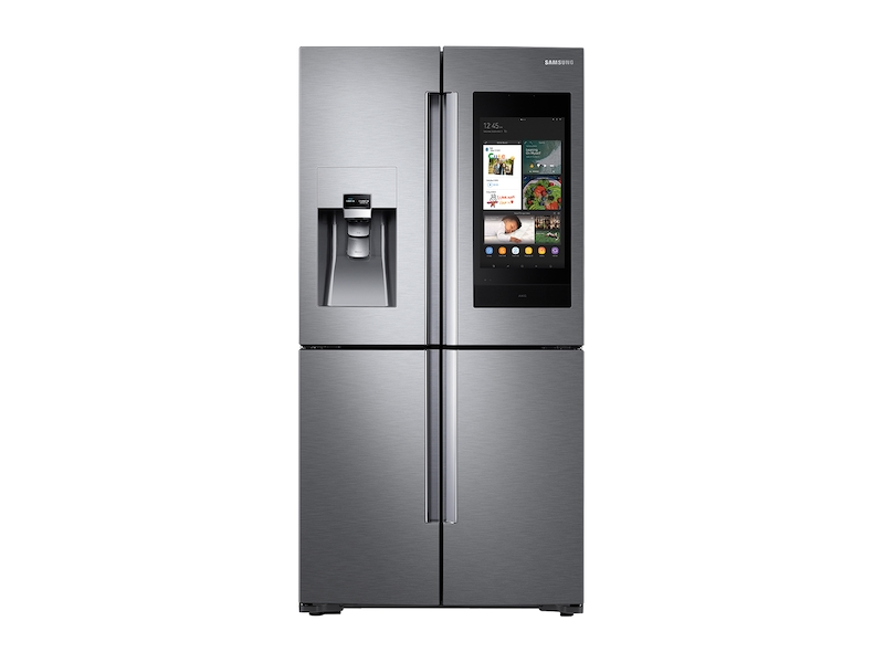 Samsung22 Cu. Ft. Family Hub™ Counter Depth 4-Door Flex™ Refrigerator In Stainless Steel