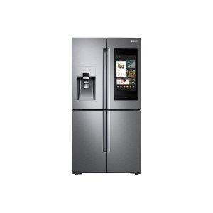 22 cu. ft. Family Hub™ Counter Depth 4-Door Flex™ Refrigerator in Stainless Steel - FINGERPRINT RESISTANT STAINLESS STEEL
