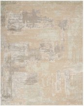 CHRISTOPHER GUY WOOL & SILK COLLECTION CGS06 AJMER/MISTED MORNING AND CIEL RECTANGLE RUG 6' x 9'