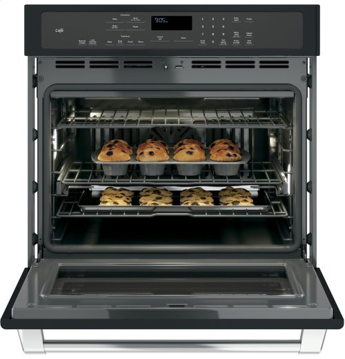 "GE Café Series 30"" Built-In Single Convection Wall Oven"