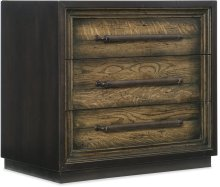Crafted Metal Wrapped Three-Drawer Nightstand