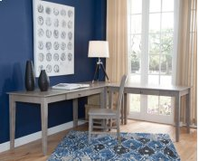 """60"""" Writing Table Taupe Gray (Shown in corner configuration with OF09-41 & OF09-63)"""