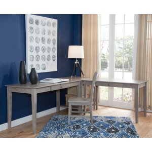 "JOHN THOMAS FURNITURE60"" Writing Table Taupe Gray (Shown in corner configuration with OF09-41 & OF09-63)"