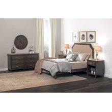 SYO Curved Panel Headboard with Wood Frame, SYO Curved Panel Headboard with Wood Frame, California King