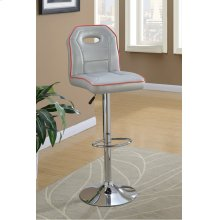 F1630 / Cat.19.p63- ADJUSTABLE BARSTOOL SILV
