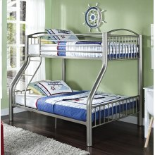 Twin over Full Pewter Bed