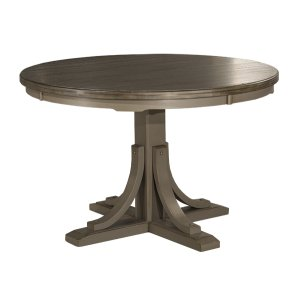 Hillsdale FurnitureClarion Round Dining Table - Pedestal Base - Ctn B - Distressed Gray (need To Order Top)