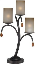 3 Lites Table Lamp - Dark Bronze/glass Shade, E12 B 40wx3 Product Image