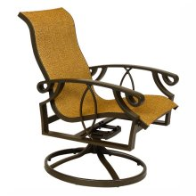Cinnamon Bay High-Back Swivel Rocker