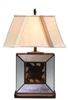 Square Beveled Glass Lamp Product Image