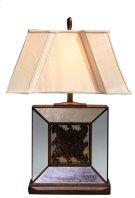 Square Beveled Glass Lamp Product Image