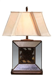 Square Beveled Glass Lamp