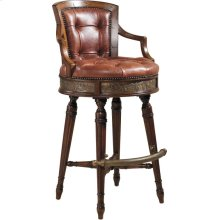 FRONTIER MAHOGANY SWIVEL COUNTER STOOL