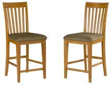 Mission Pub Chairs Set of 2 with Cappuccino Cushion in Caramel Latte