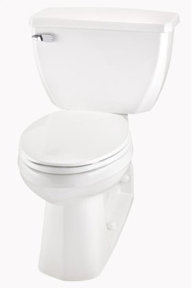 "White Ultra Flush® 1.6 Gpf 4 1/4"" Vertical Rough-in Two-piece Back Outlet Elongated Ergoheight Toilet"