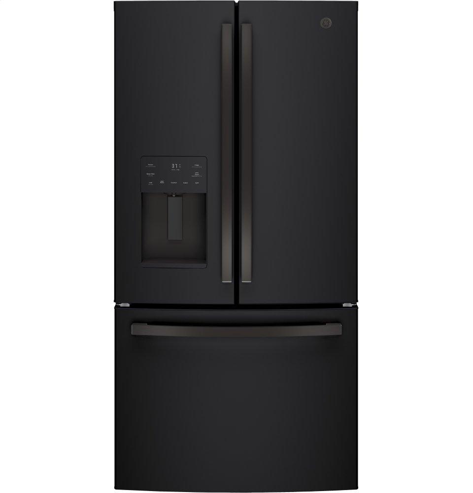 GE(R) ENERGY STAR(R) 25.6 Cu. Ft. French-Door Refrigerator  BLACK SLATE