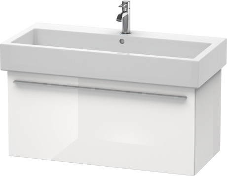 Vanity Unit Wall-mounted, White High Gloss (decor)  WHITE HIGH GLOSS (DECOR)