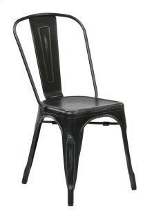 Bristow Armless Chair, Antique Black, 2 Pack