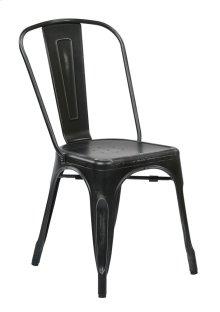 Bristow Armless Chair, Antique Black, 2 Pack