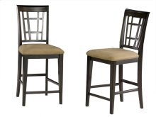 Montego Bay Pub Chairs Set of 2 with Cappuccino Cushion in Espresso