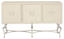 Savoy Place Raffia Console with Metal Base