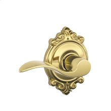 Accent Lever with Brookshire trim Hall & Closet Lock - Bright Brass