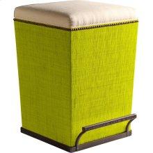 Ecru Fabric Purveyor Counter Stool in Lime Finish