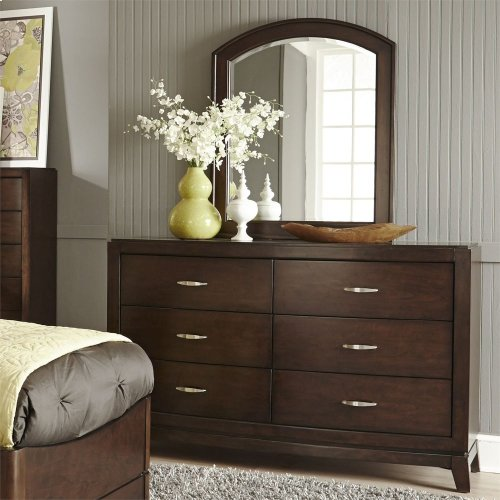 Twin Leather Bed, Dresser & Mirror