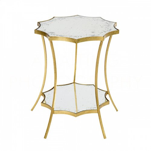 Astre Curved Mirror Side Table