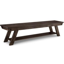 "Algoma 72"" Bench with Wood Seat"
