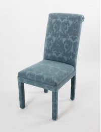 Roll back chair with covered legs Product Image