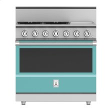 "36"" 4-Burner All Gas Range with 12"" Griddle - KRG Series - Bora-bora"